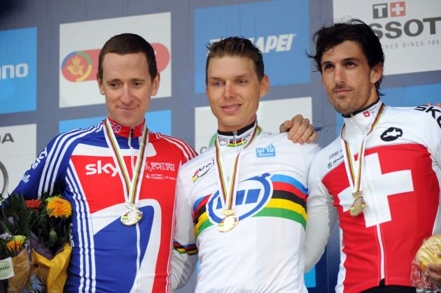 Wiggins, Martin, Cancellara, Elite men time trial, Road World Championships 2011