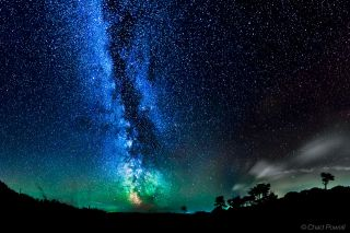 Milky Way, Green Airglow Over Isle of Wight