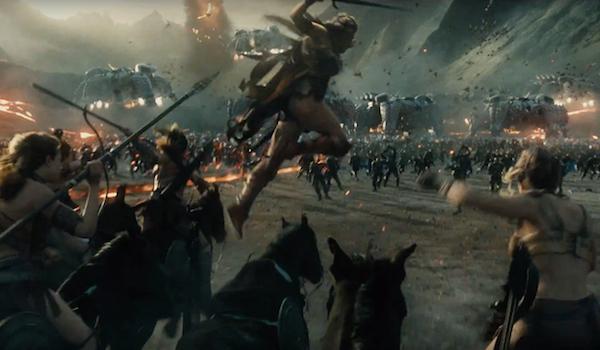 Amazons battling forces of Apokolips