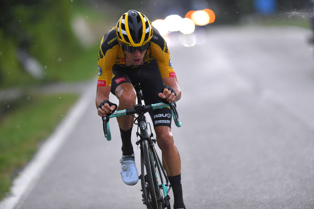 BAROLO ITALY AUGUST 12 George Bennett of New Zealand and Team JumboVisma during the 104th Giro del Piemonte 2020 a 187km race from Santo Stefano Belbo to Barolo 294m GranPiemonte GranPiemonte on August 12 2020 Barolo Italy Photo by Tim de WaeleGetty Images