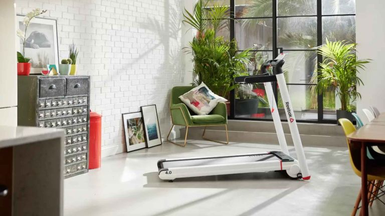 Home fitness equipment: Reebok I Run 4.0 Treadmill in living room