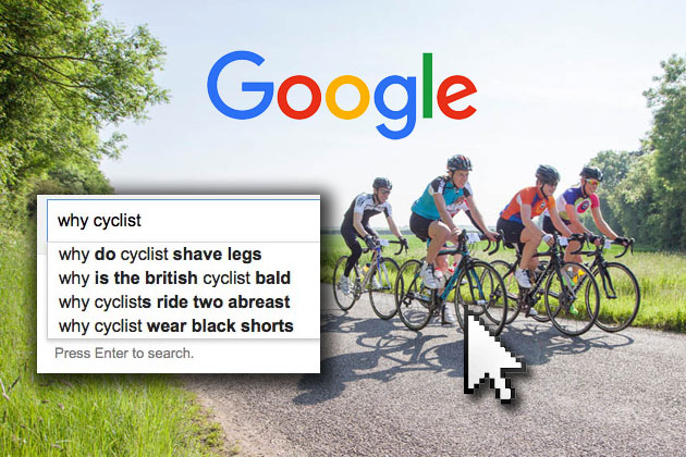 What do these seven Google searches say about cycling today