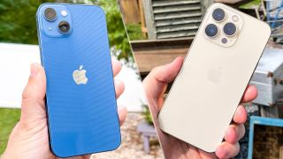 iPhone 13 vs iPhone 13 Pro image of both phones