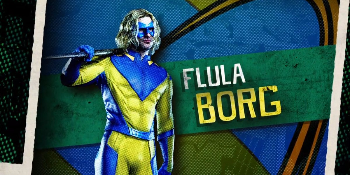 Flula Borg as Javelin in The Suicide Squad