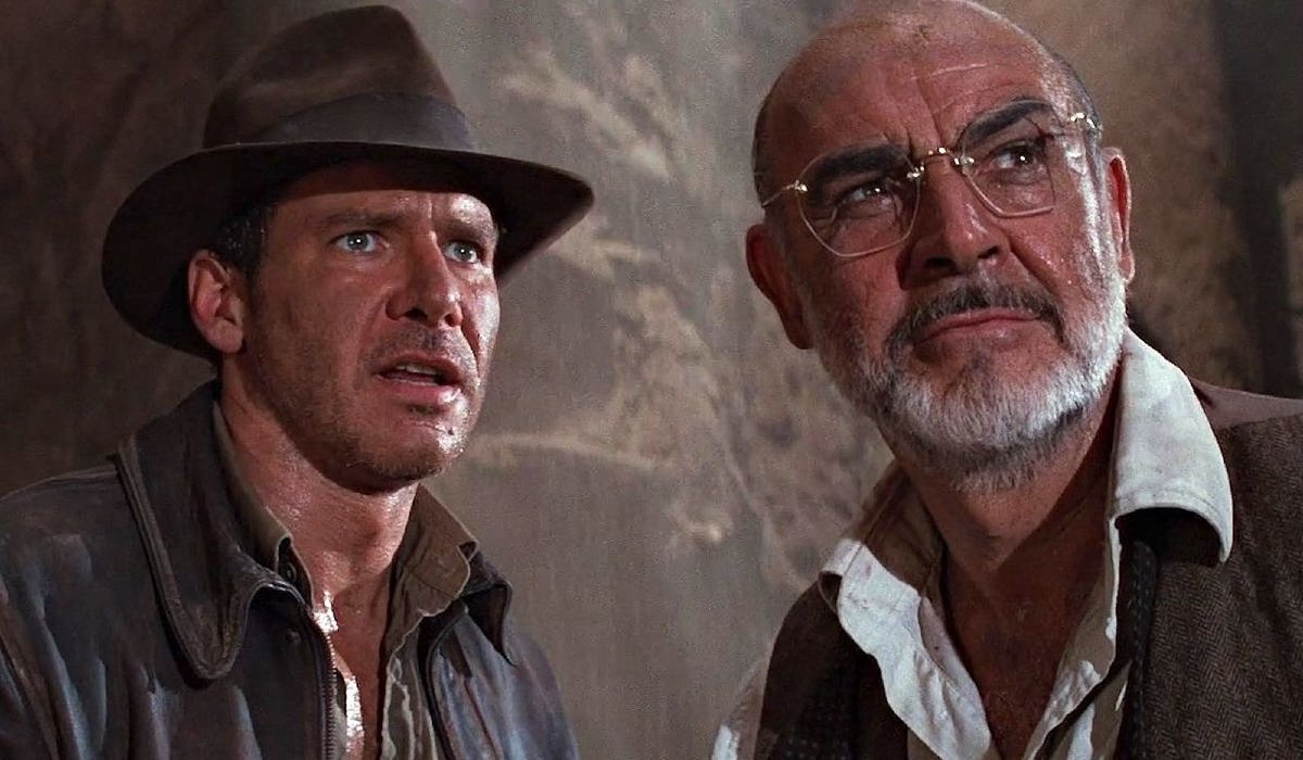 Indiana Jones and the Last Crusade Harrison Ford in shock, as Sean Connery looks on knowingly