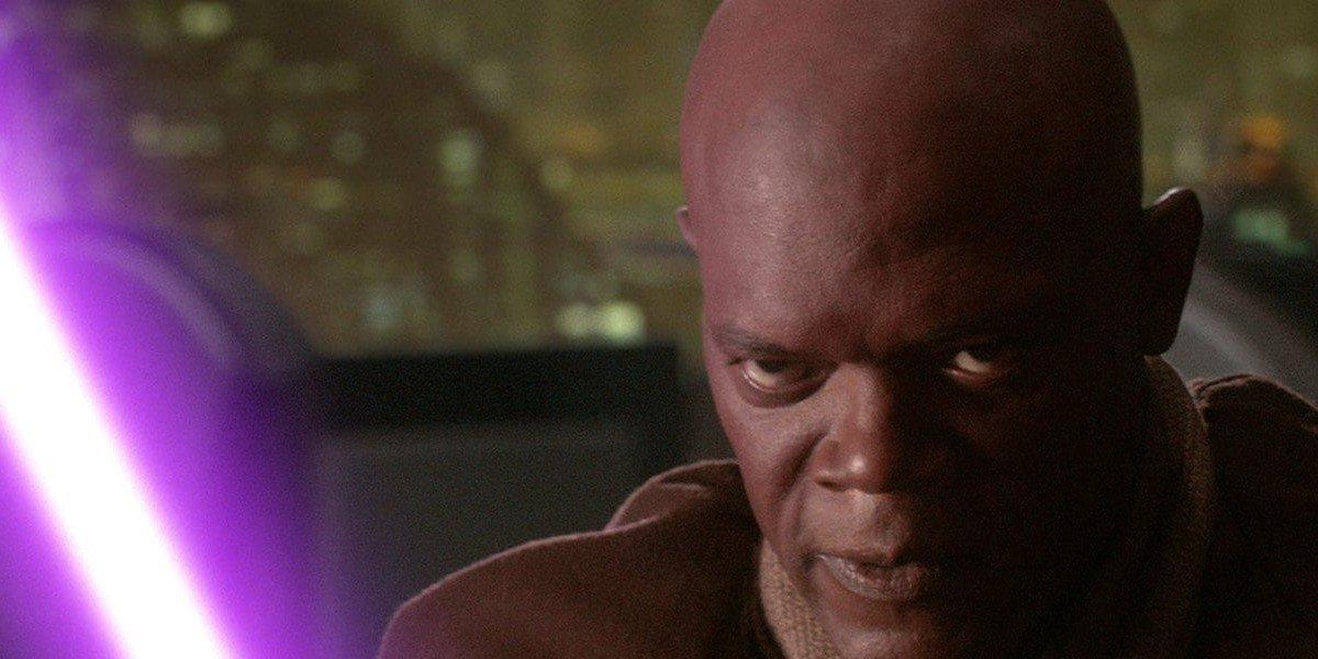 Samuel L. Jackson as Mace Windu in Star Wars: Episode III - Revenge of the Sith