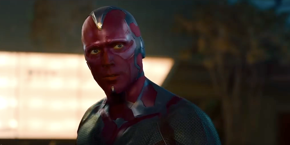 vision paul bettany age of ultron 2015