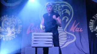 William Zabka in a production still for Netflix's 'Cobra Kai'