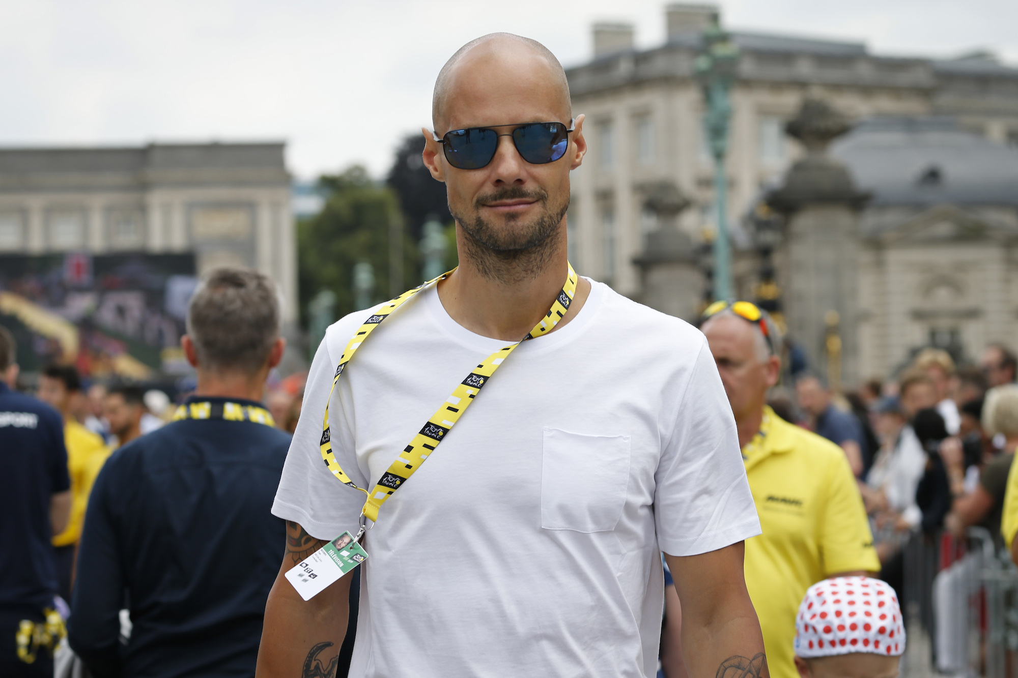 Tom Boonen narrowly escapes injury after high-speed racing car crash