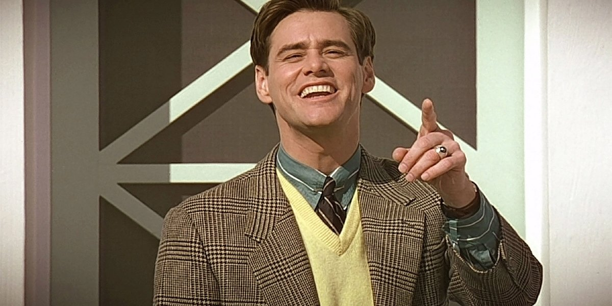 Jim Carrey wishing good morning in The Truman Show