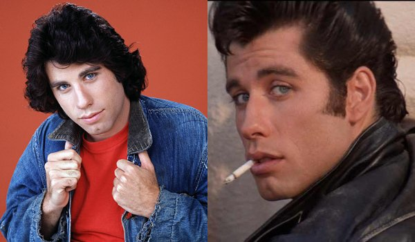 John Travolta Welcome Back Kotter and Grease hairstyles