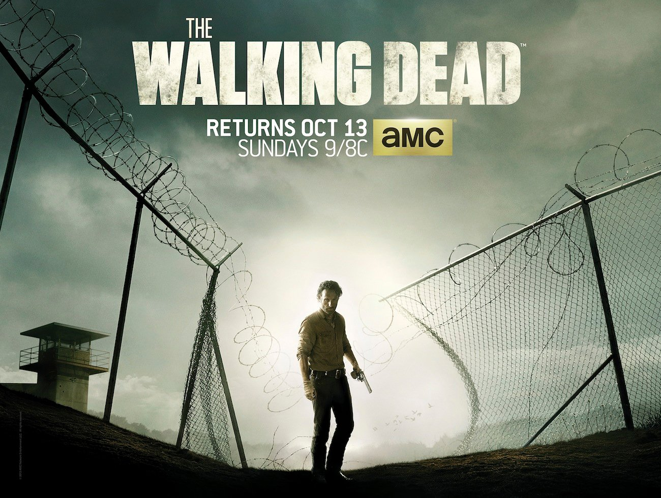 The Walking Dead Season 4 Poster Shows The Prison Looking Less Secure  #28714