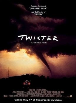 The theatrical release poster for the movie 'Twister.'