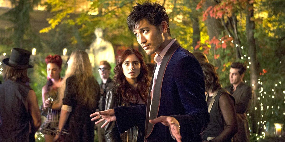 Godfrey Gao as Magnus Bane in The Mortal Instruments: City of Bones movie