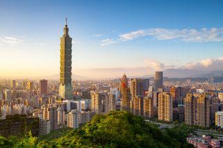 City of Taipei at sunset, Taiwan