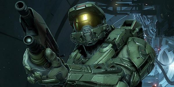 Master Chief wields a shotgun in Halo.