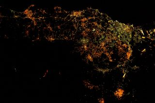 Mount Etna Erupts: Astronaut View