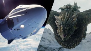 "How does a SpaceX Dragon capsule stack up against the dragons of ""Game of Thrones""?"