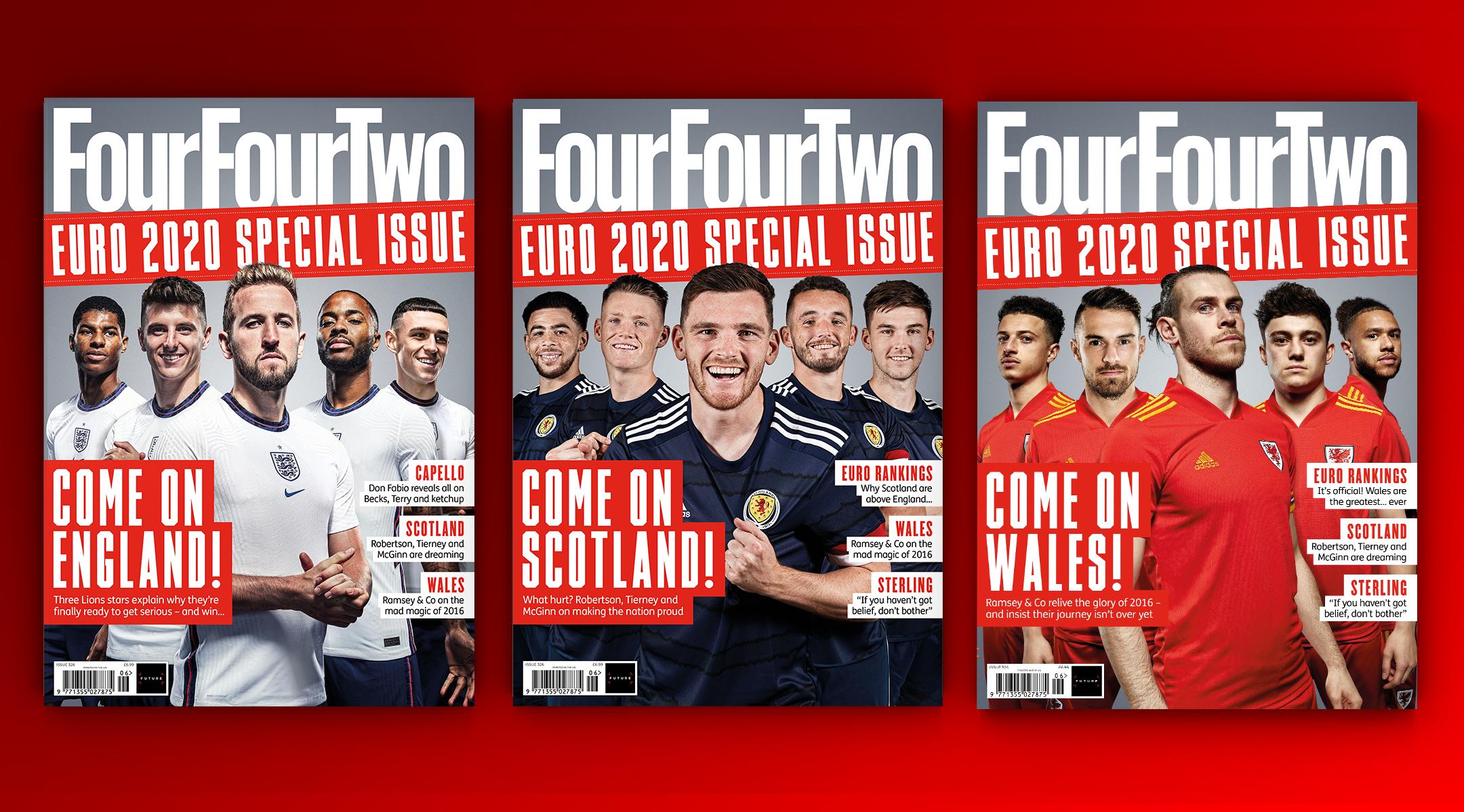 Euro 2020 issue, England, Scotland, Wales FourFourTwo
