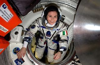 Astronaut Cristoforetti on the International Space Station