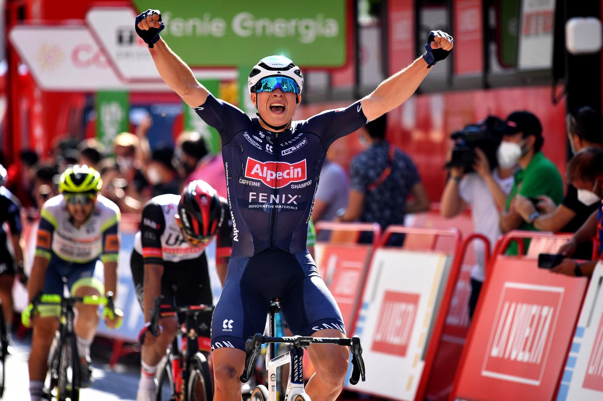 Vuelta Espana 2021 - 76th Edition - 2nd stage Caleruega - Burgos 166,7 km - 15/08/2021 - Jasper Philipsen (BEL - Alpecin-Fenix) - photo Miwa Iijima/CV/BettiniPhoto©2021
