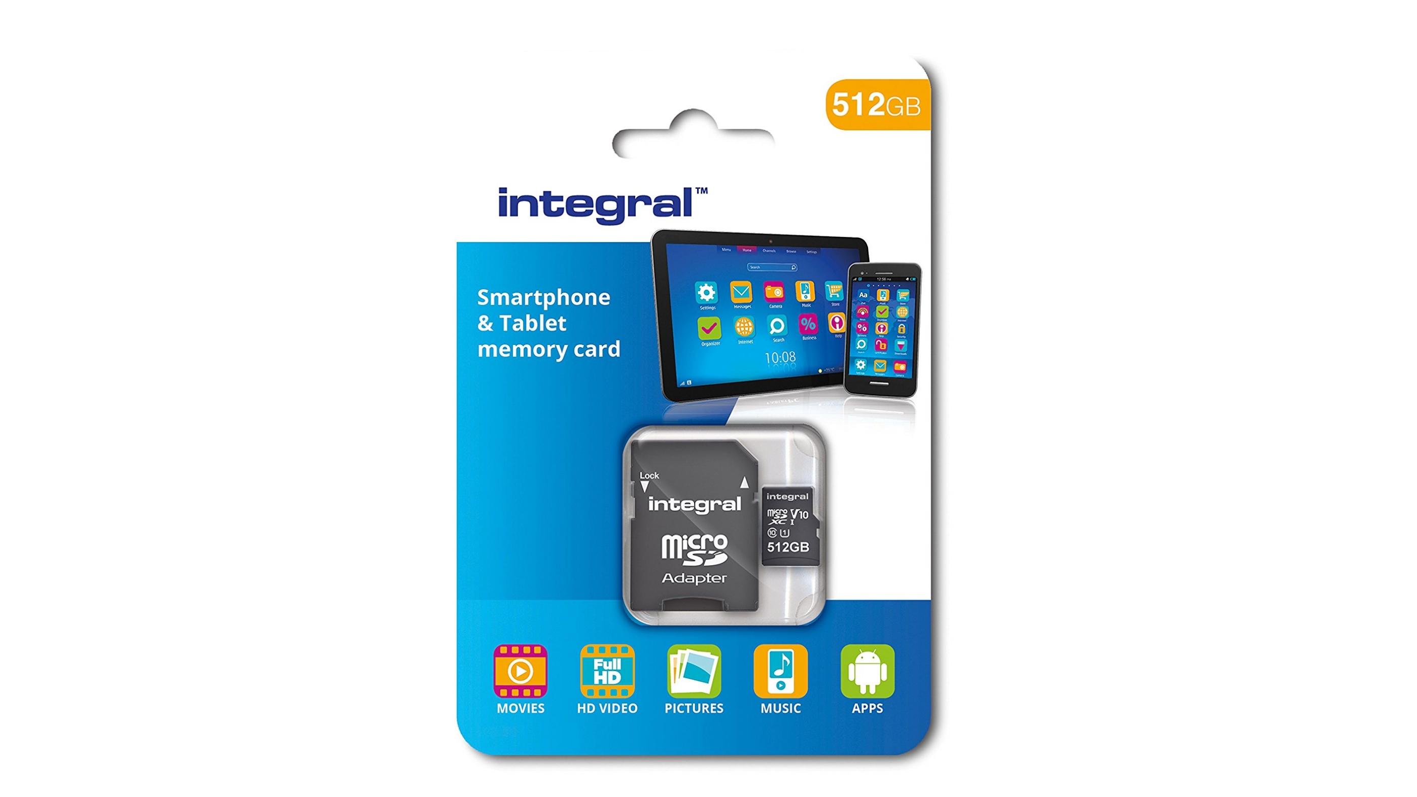 Integral 512GB microSDXC Class 10 Memory Card