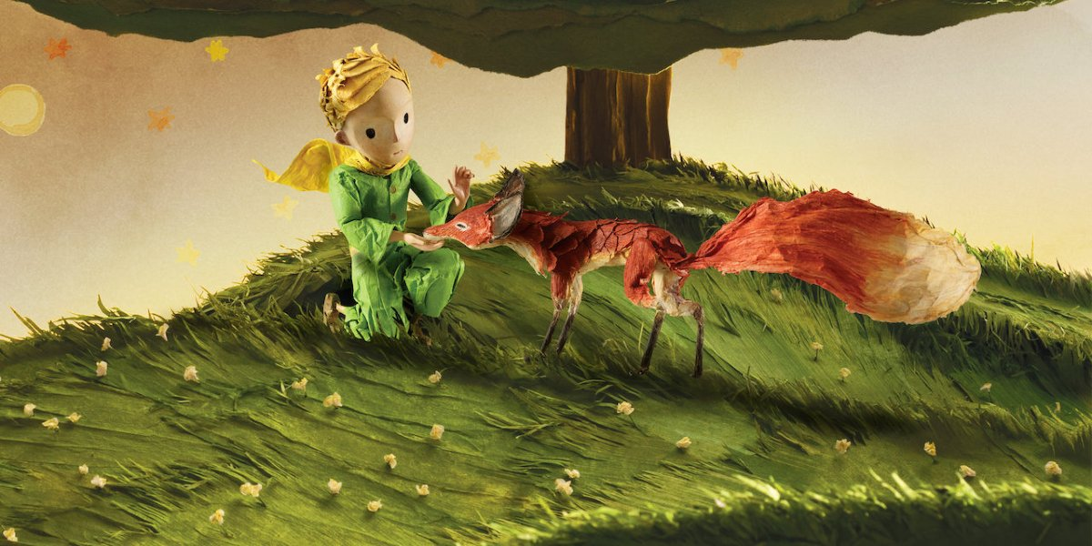The little prince and a fox in The Little Prince