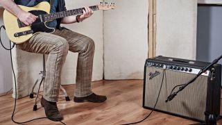 Guitarist recording