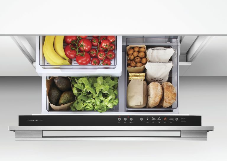 cooling drawer with food by Fisher & Paykel