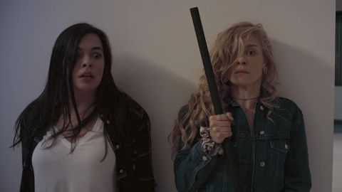Isabella Gomez and Lindsay LaVanchy in Initiation.