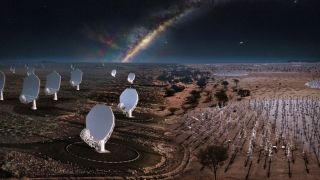 The Square Kilometer Array radio telescope will be located on sites in Australia and South Africa.