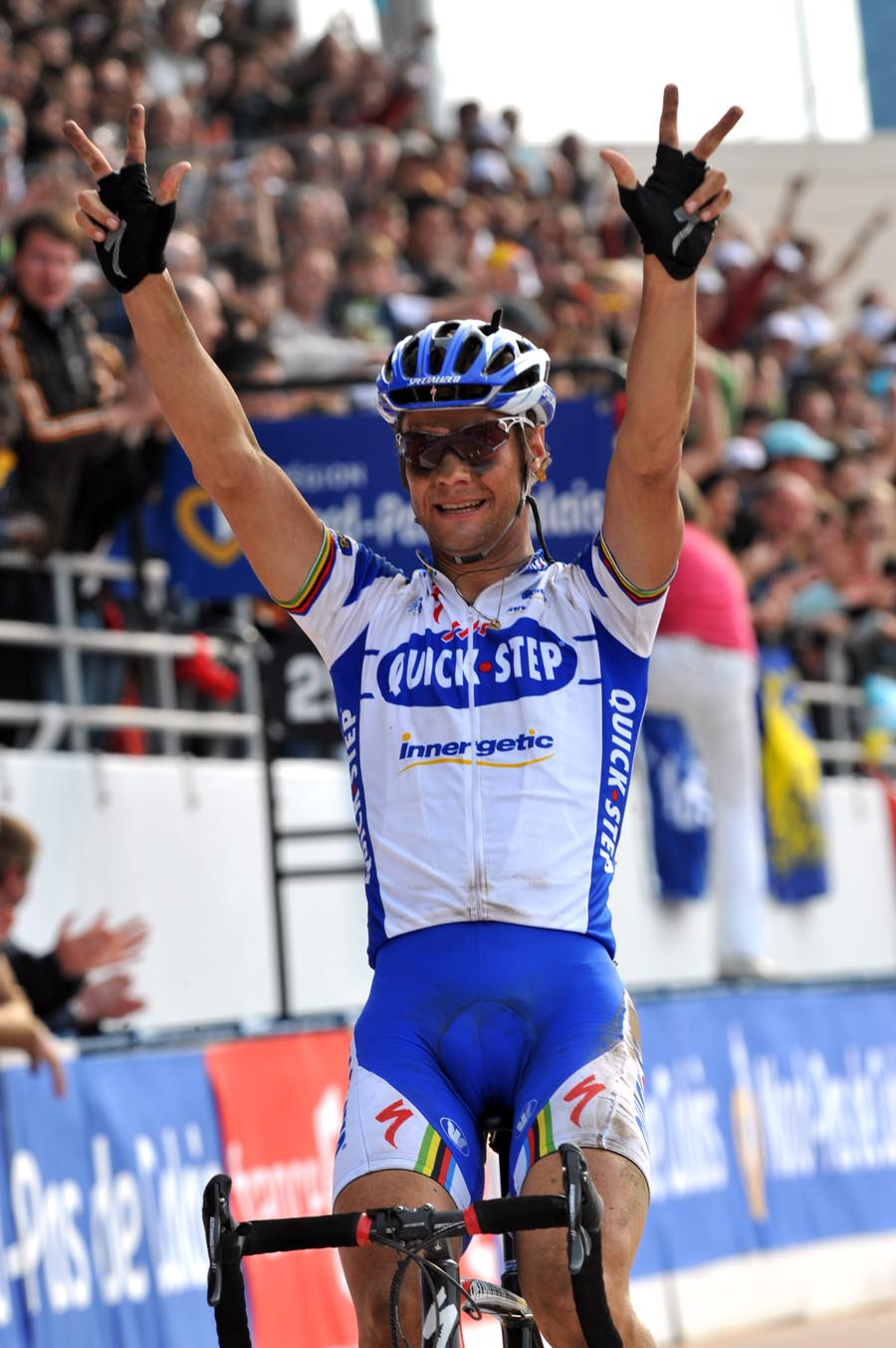 Tom Boonen wins his third Paris Roubaix