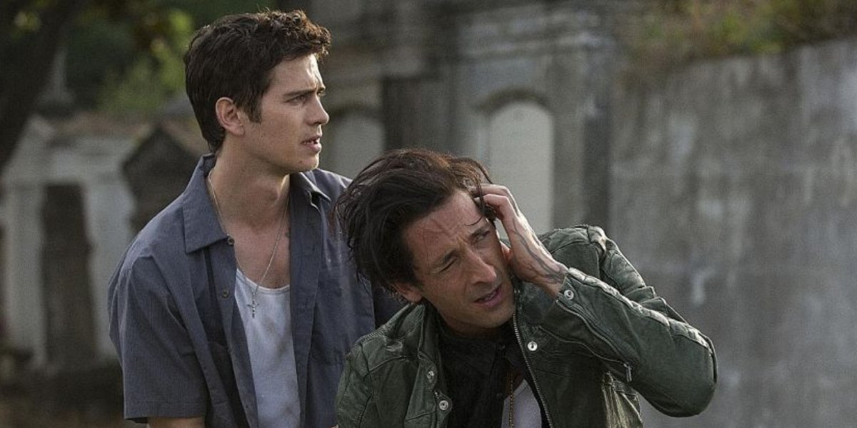 Hayden Christensen and Adrien Brody in American Heist