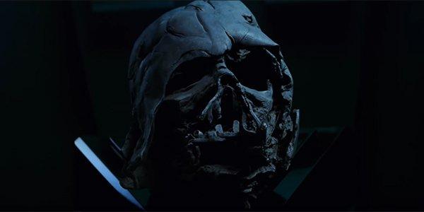 Darth Vader's broken helmet