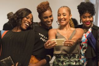 The 'Insecure' cast take a selfie together in Season 2.
