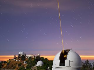 Lick Observatory with Laser Guide Star