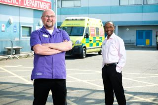 Casualty anniversary episode sees Big Mac and Noel reunited.