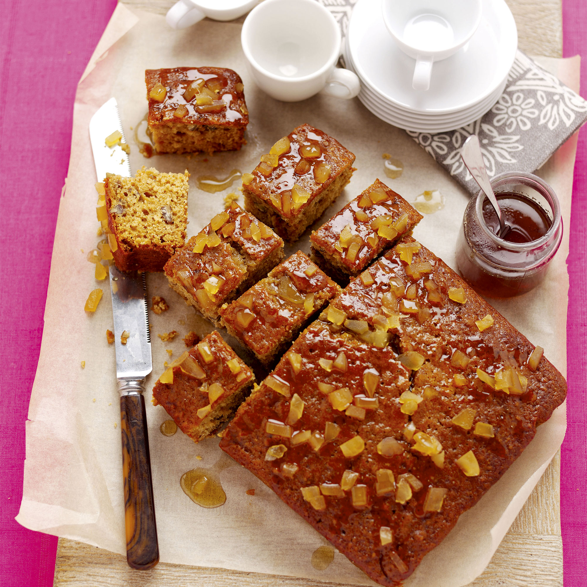 Have a go at making this moreish dairy free sticky ginger cake