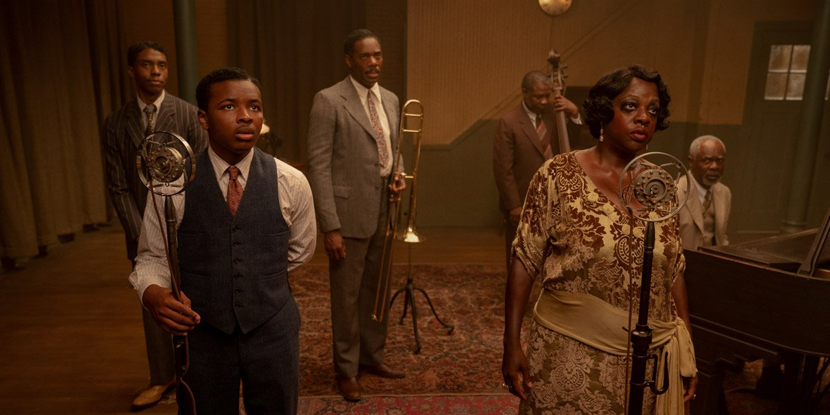 Viola Davis Chadwick Boseman Glynn Turman Colman Domingo Michael Potts in Ma Rainey's Black Bottom