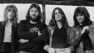 The Blizzard of Ozz band at the studio
