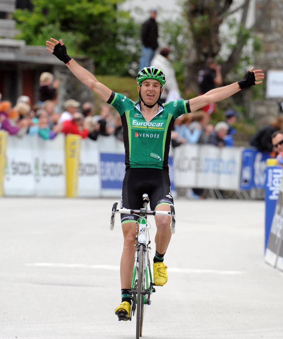 Christophe Kern wins, Criterium du Dauphine 2011, stage five
