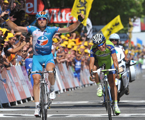 Pierrick Fedrigo wins, Tour de France 2009, stage 9