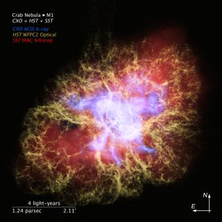 Tour the colorful Crab Nebula with this stunning new 3D visualization
