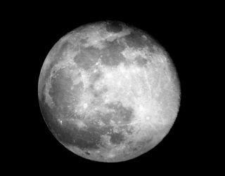 Full Moon Over Juarez Mexico