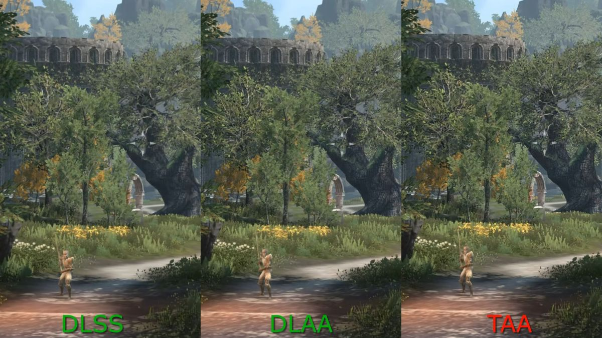 Comparison video shows Nvidia's new DLAA tech alongside TAA and DLSS in Elder Scrolls Online