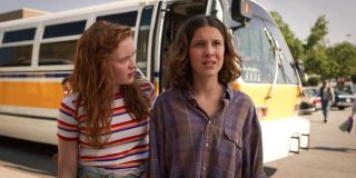 """Stranger Things Season 4: Sadie Sink (left) claims this season's """"stakes are ... higher than they've ever been"""""""