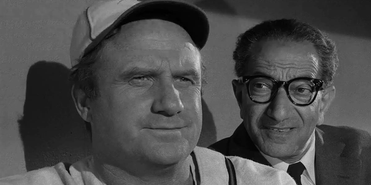 Jack Warden in the baseball cap