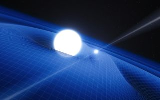 Pulsar and White Dwarf Orbit Artist Impression space wallpaper
