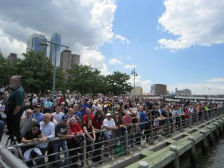 Crowds Welcome Shuttle Enterprise to the Intrepid Museum
