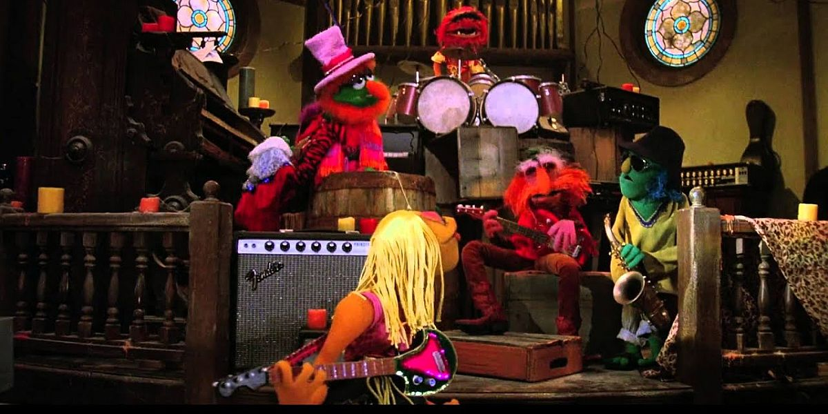 The Electric Mayhem in The Muppet movie